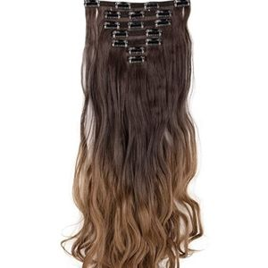 felendy Accessories - 7Pcs Thick Curly Wavy Straight Clip in Double Weft